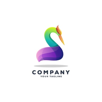 Geweldige gans logo ontwerp vector