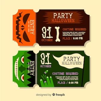 Geweldige halloween-tickets voor feestevenementen