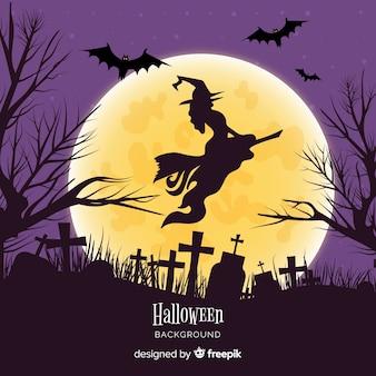 Geweldige hand getrokken halloween-achtergrond