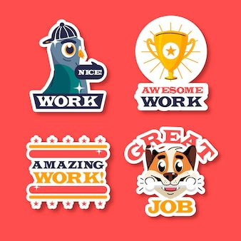 Geweldige job stickers-collectie