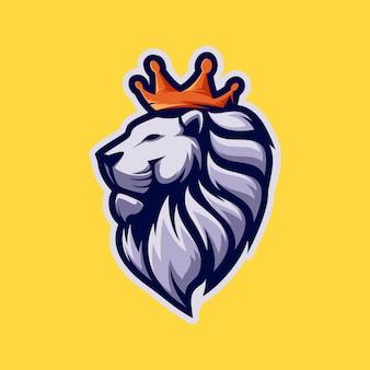 Geweldige king lion mascot