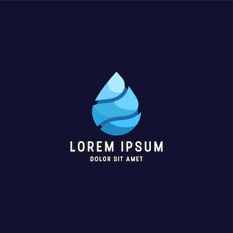 Geweldige kleurrijke waterdruppel logo ontwerpsjabloon