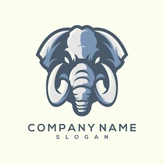 Geweldige olifant logo ontwerpsjabloon
