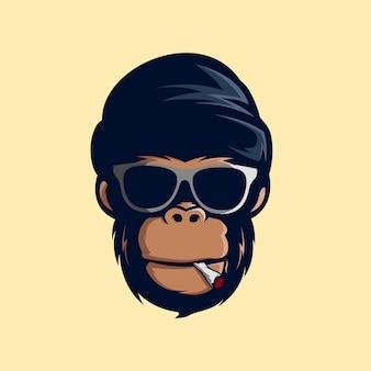 Geweldige rook aap mascot