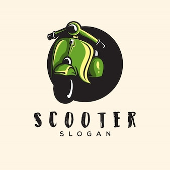 Geweldige scooter logo illustratie