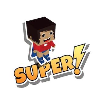 Geweldige superheld moeder
