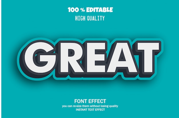 Geweldige tekst, bewerkbaar lettertype-effect