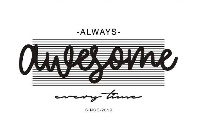 Geweldige typografie voor print t-shirt