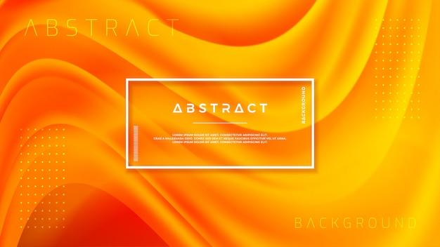 Geweven ontwerp als achtergrond in 3d-stijl met oranje kleur.