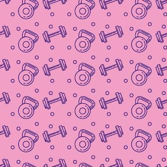 Gewicht dumbell gezonde levensstijl patroon