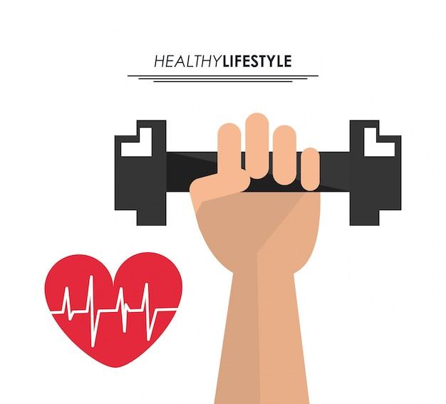 Gewicht hartslagpictogram