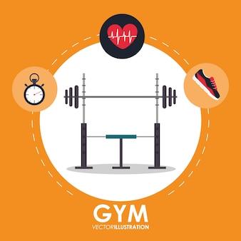 Gewicht hartslagschoenen en chronometer pictogram