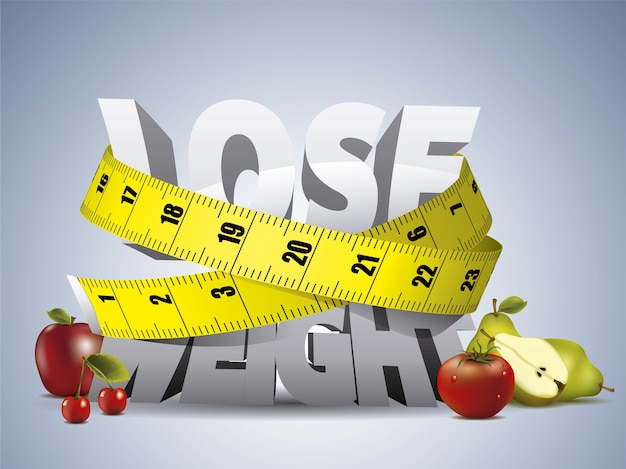Gewicht verliezen achtergrond