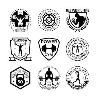 Gewichtheffen badges
