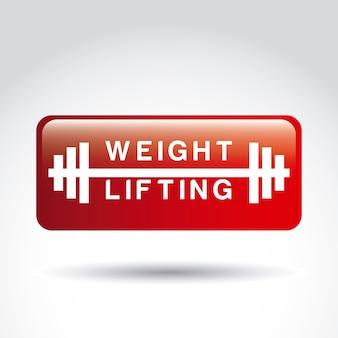 Gewichtheffen bord boven grijze achtergrond vectorillustratie