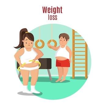 Gewichtsverlies concept