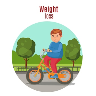 Gewichtsverlies kleurrijk concept