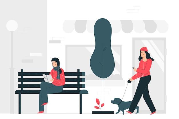 Gewone dag concept illustratie