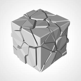 Gewone kubus van verschillende stukken illustratie