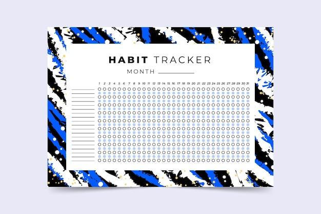 Gewoonte tracker sjabloon abstract ontwerp