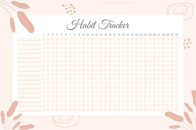 Gewoonte tracker-sjabloon