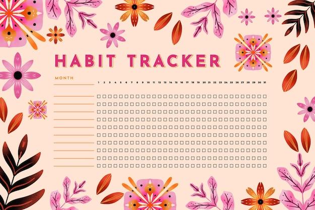 Gewoonte tracker sjabloon