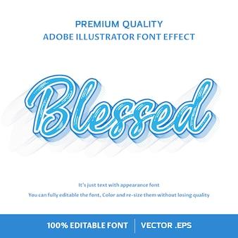 Gezegend - bewerkbaar lettertype-effect
