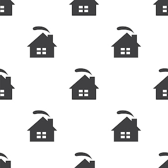 Gezellig huis, vector naadloos patroon, bewerkbaar kan worden gebruikt voor webpagina-achtergronden, opvulpatronen