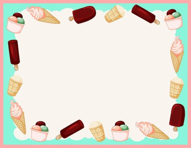 Gezellig zomerijs met trendy gelato ornamentframe