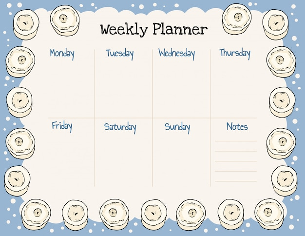 Gezellige boho weekplanner en takenlijst met kaarsenornament.