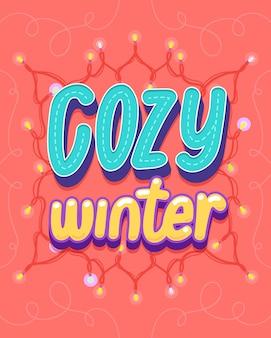 Gezellige winter illustratie