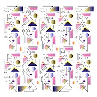 Gezichten patroon