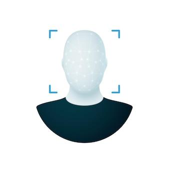 Gezichtsherkenning gezichts-id identiteitsverificatie biometrische identificatie