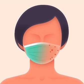 Gezichtsmasker illustratie concept
