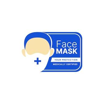 Gezichtsmasker logo concept