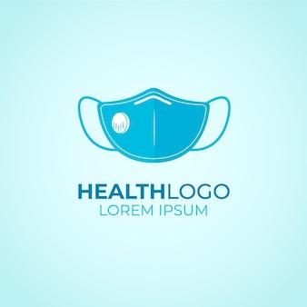 Gezichtsmasker logo concept Premium Vector