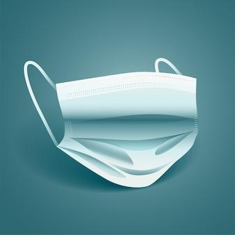 Gezichtsmasker voor bescherming tegen virussen en vervuiling