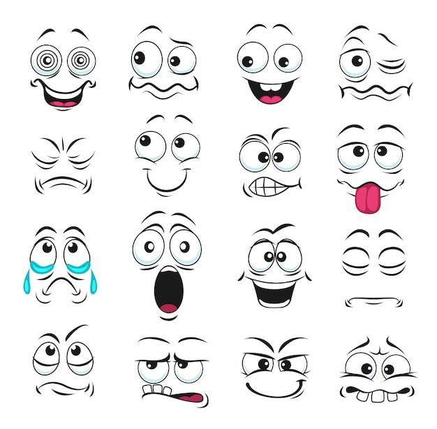 Gezichtsuitdrukking geïsoleerde pictogrammen
