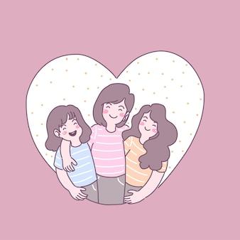 Gezinnen leven samen in liefde, plezier en warmte.