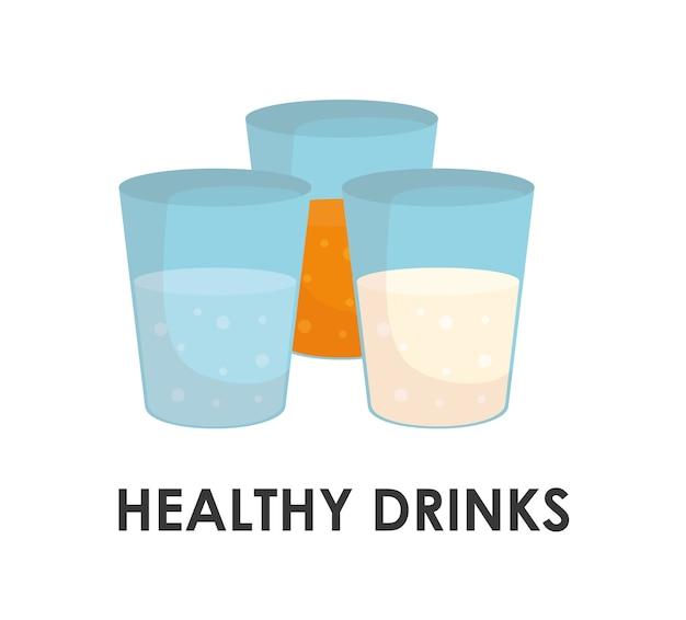 Gezond en biologisch voedsel concept met pictogram ontwerp