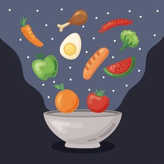 Gezond eten in kom