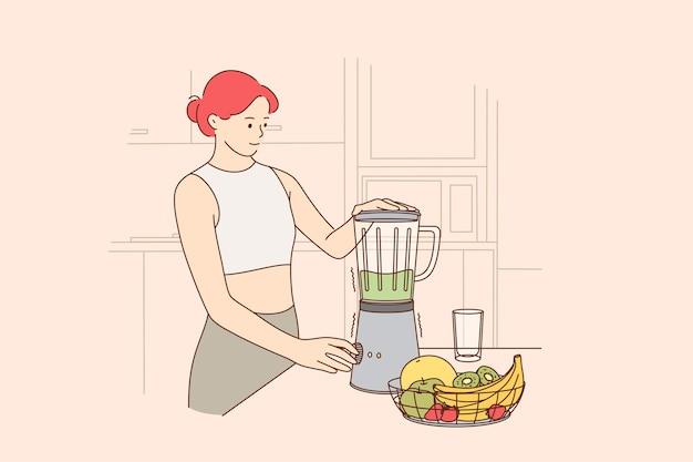 Gezond eten, vegetarisch dieet, schoon eten concept