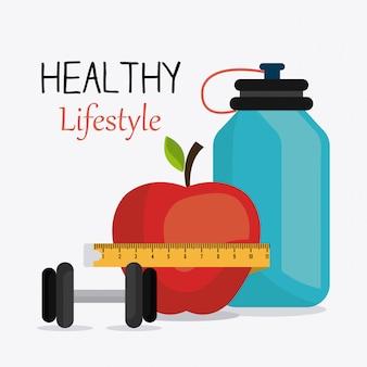 Gezond levensstijlontwerp.