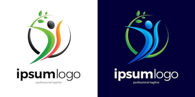 Gezond menselijk logo-ontwerp