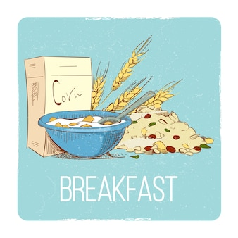 Gezond ontbijtconcept