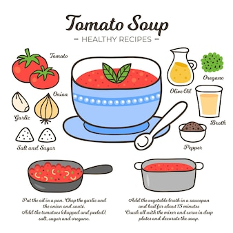 Gezond recept illustratie concept
