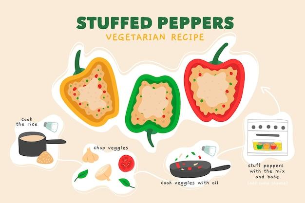 Gezond recept met gevulde paprika