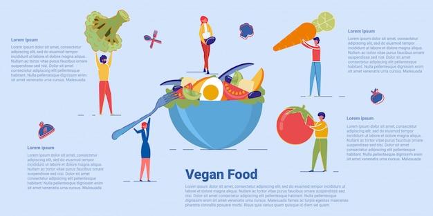Gezond veganistisch eten en biologisch vegetarisch menu.