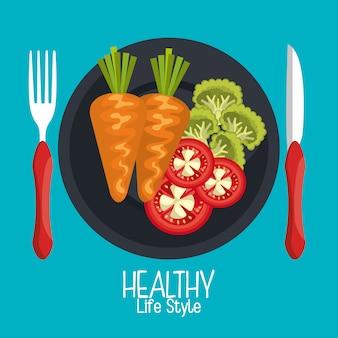 Gezond voedsel illustratie