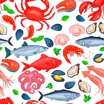 Gezond voedsel naadloos patroon.